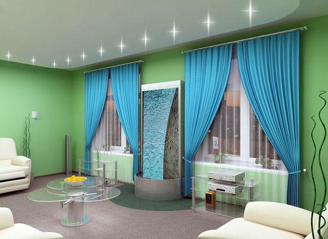 80+ фото идей голубых обоев в интерьере спальни, кухни, гостиной и детской