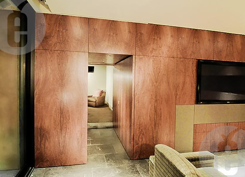 Монтаж и декорирование потайной двери в стене