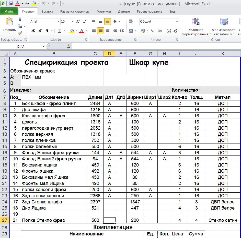 Шкаф купе проект, этапы разработки с описанием важных моментов
