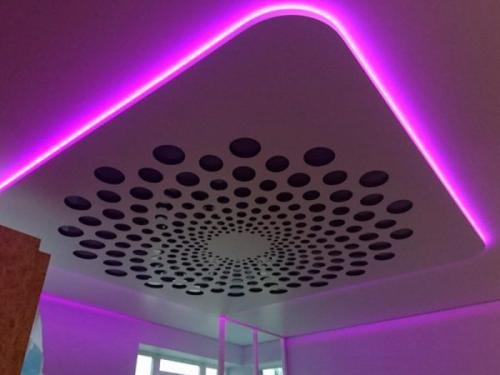 Как сделать парящий потолок своими руками — натяжной, из гипсокартона, с подсветкой: как выглядит с линиями и иными фигурами, как установить, какова схема?