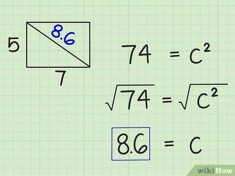 Как правильно вывести диагональ. расчет диагонали для угла 90 градусов