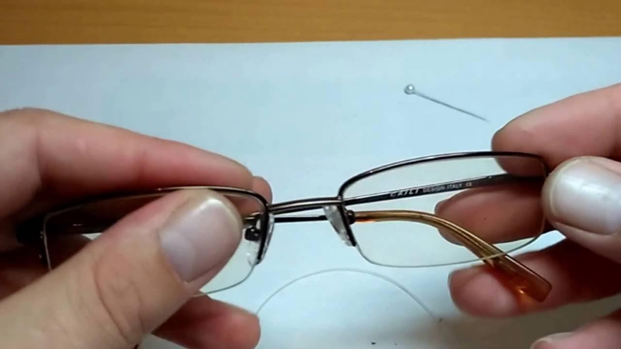 Как починить очки, если сломалась дужка?