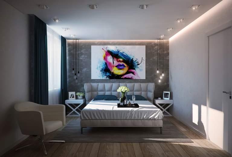 Потолки из гипсокартона для спальни: 140 фото красивого дизайна