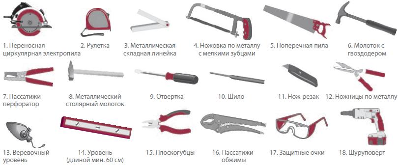 инструмент для сайдинга