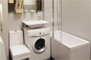 Раковина со столешницей под стиральную машину 25 реальных фото в интерьере удачные варианты размещения