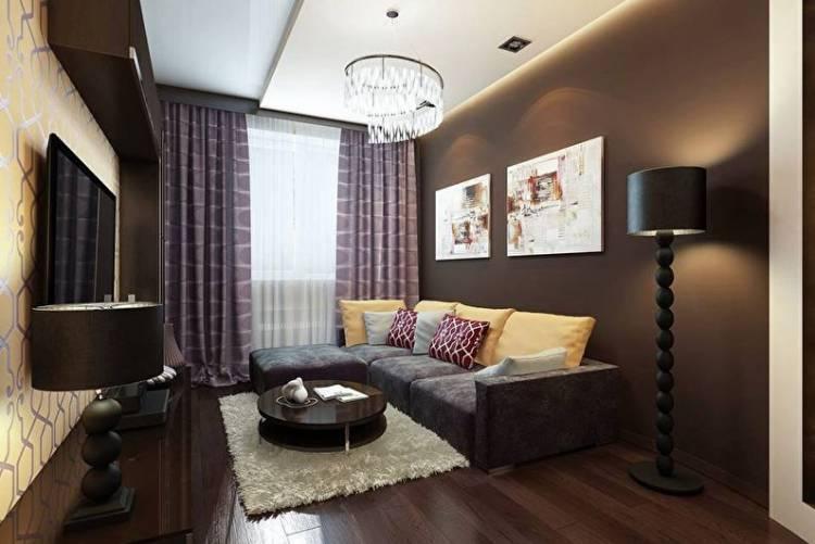 комната в коричневых тонах