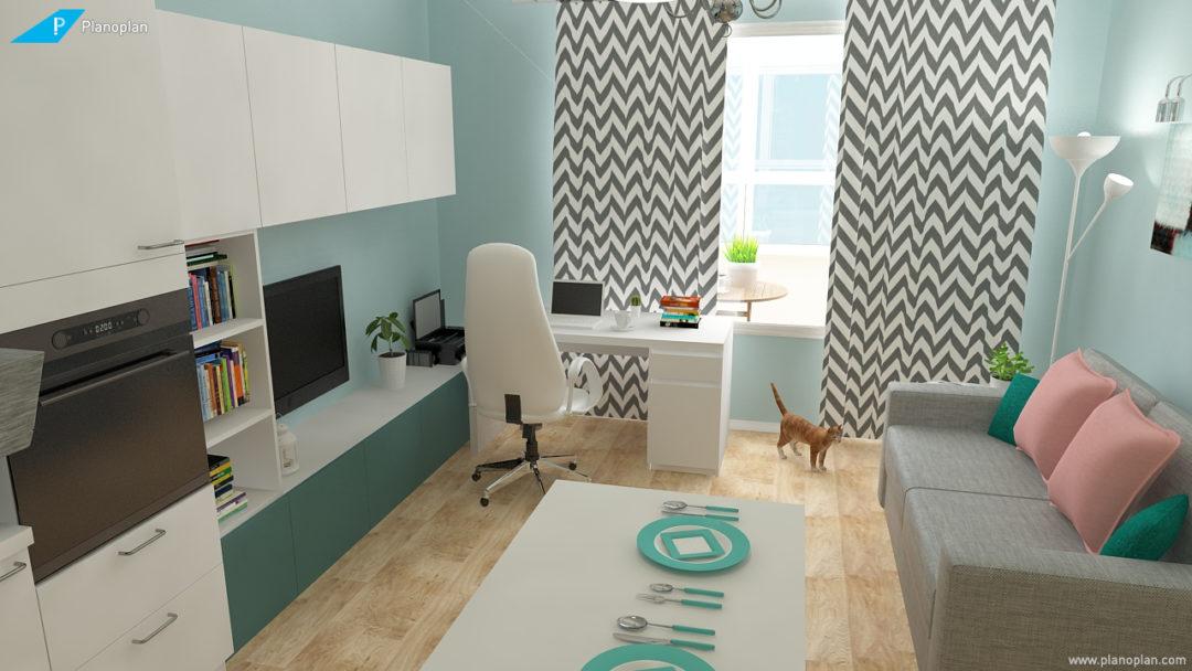 чертеж квартиры с размерами
