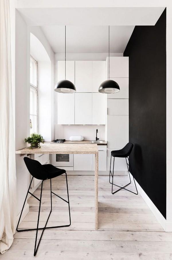 Прямая кухня длиной 3 метра с холодильником: идеи дизайна