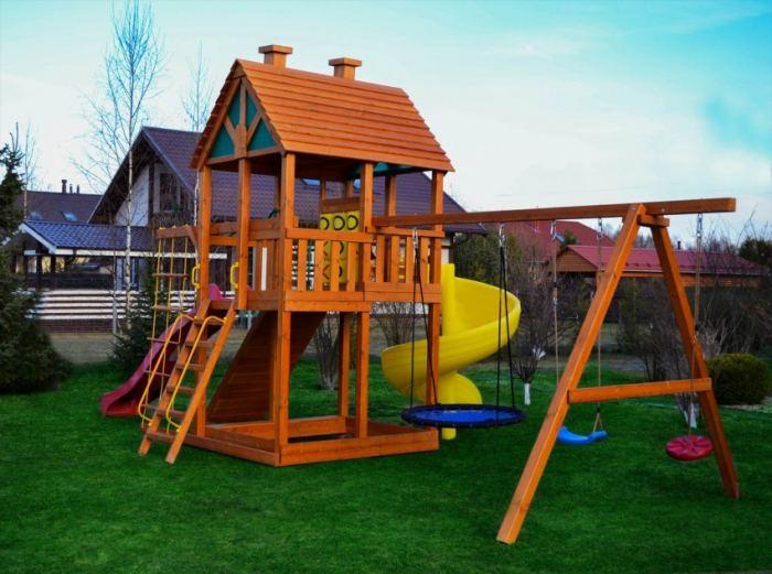 Детские площадки (30 фото на даче) от 3 до 15 лет: деревянные, пластиковые, игровые