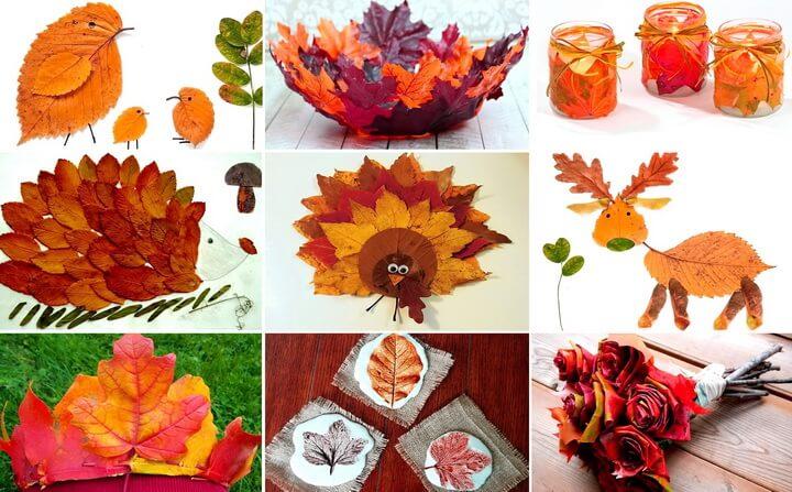 Поделки из листьев: 115 фото примеров осенних композиций сделанных своими руками