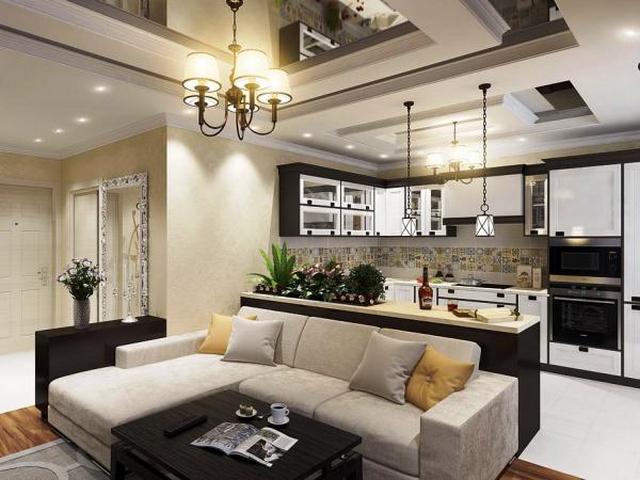 Кухня студия - инструкция, как идеально сочетать два интерьера. 100 фото примеров дизайна кухни-студии