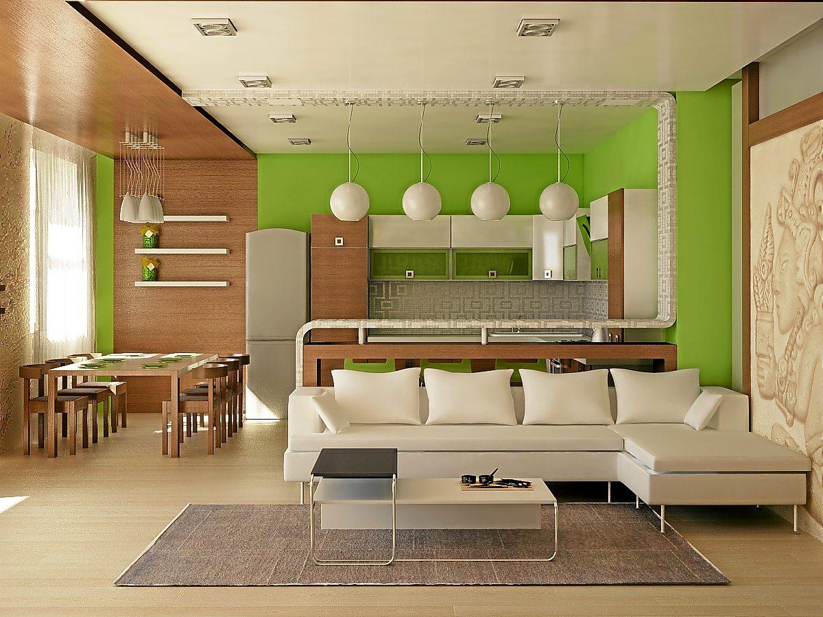 Кухня в однокомнатной квартире и дизайн ее интерьера для хрущевки