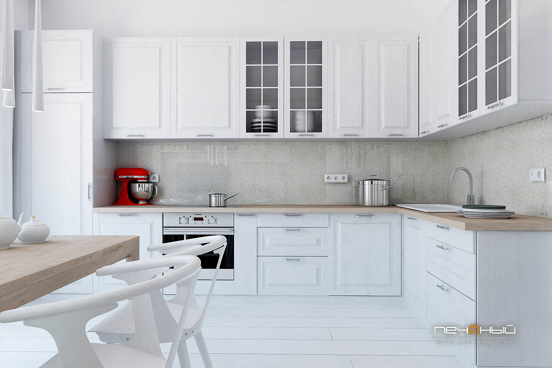 кухни белого цвета фото в интерьере