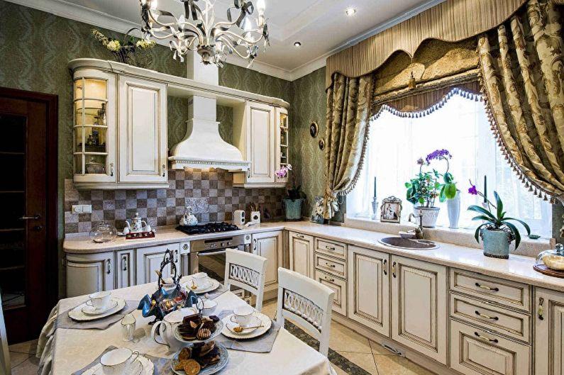 косые шторы на кухню фото