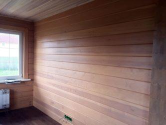 Отделка дома внутри имитацией бруса – фото, видео, порядок работ