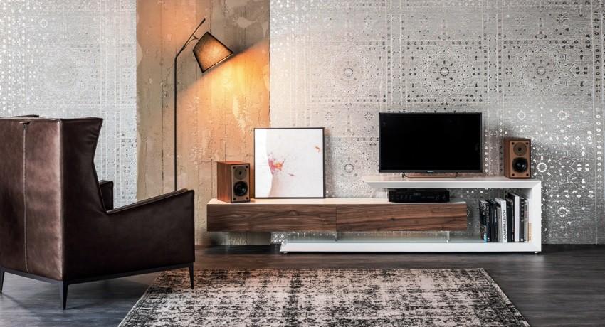 Мебель под телевизор в гостиную (42 фото): дизайн угловой подвесной тв-тумбы или длинной консоли, что выбрать под телевизор