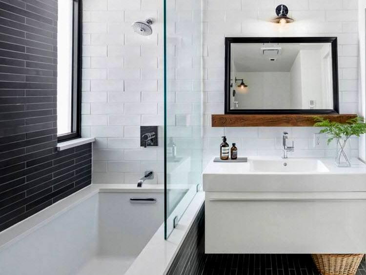Как подобрать плитку для маленькой ванной комнаты: советы выбора
