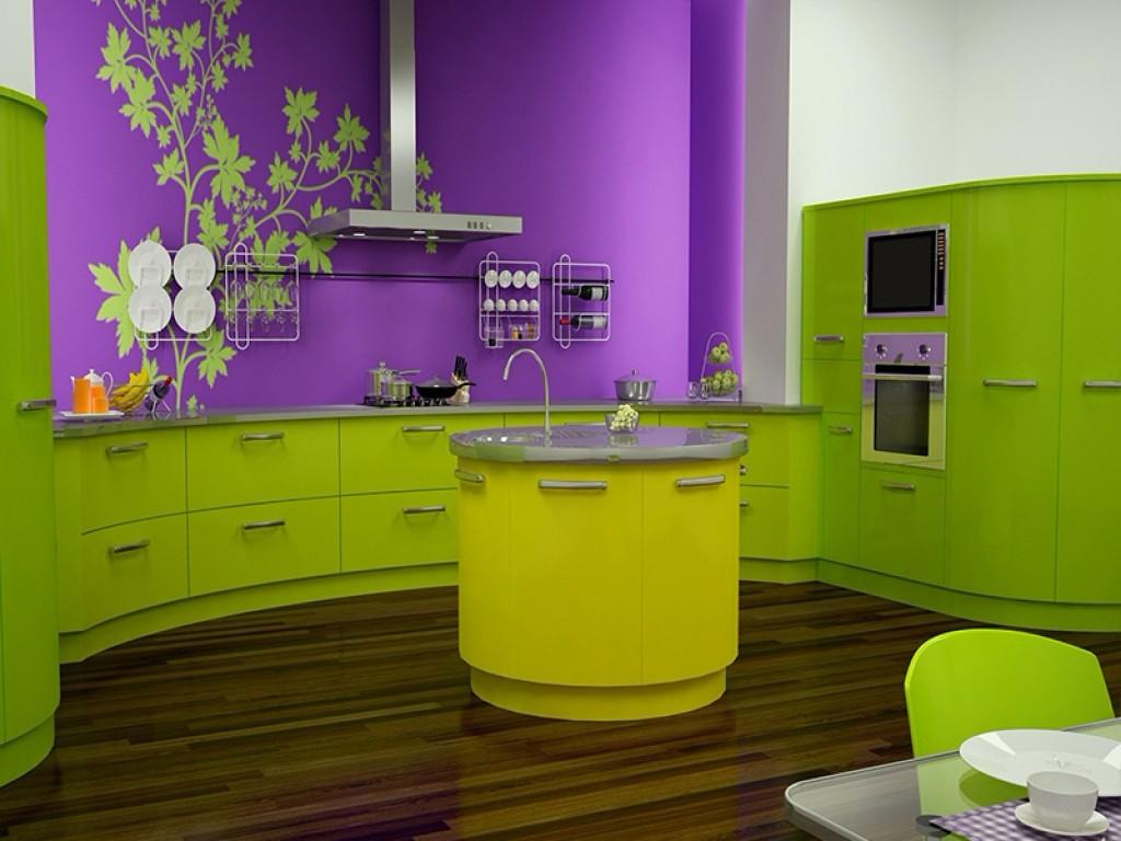 Дизайн фиолетовой кухни (фото)