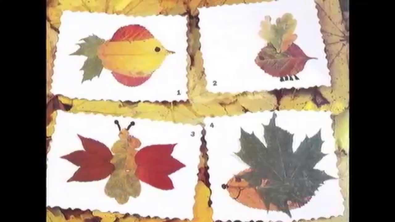 Поделки из сухих листьев   44 увлекательные фото идеи осенних поделок