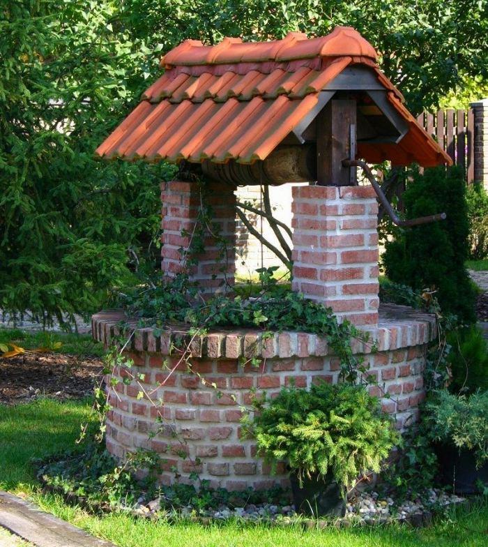 Декоративный колодец на даче своими руками – дачные дела
