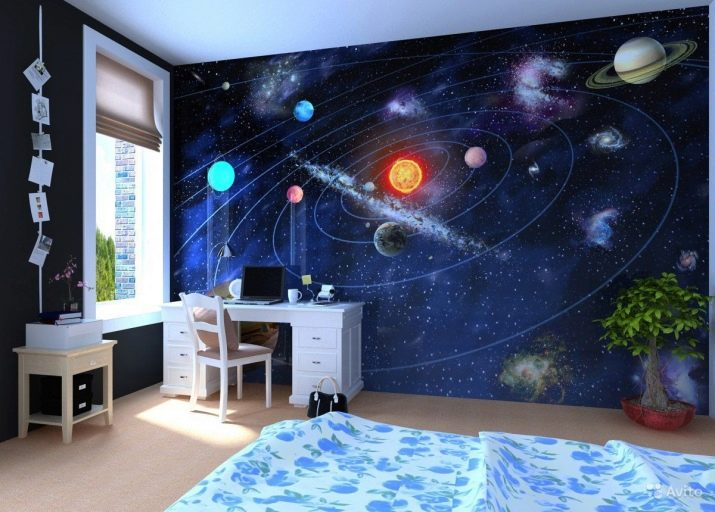 Светящиеся обои в темноте в детскую комнату, люминесцентные и флуоресцентные обои с 3d эффектом