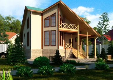 красивые каркасные дома