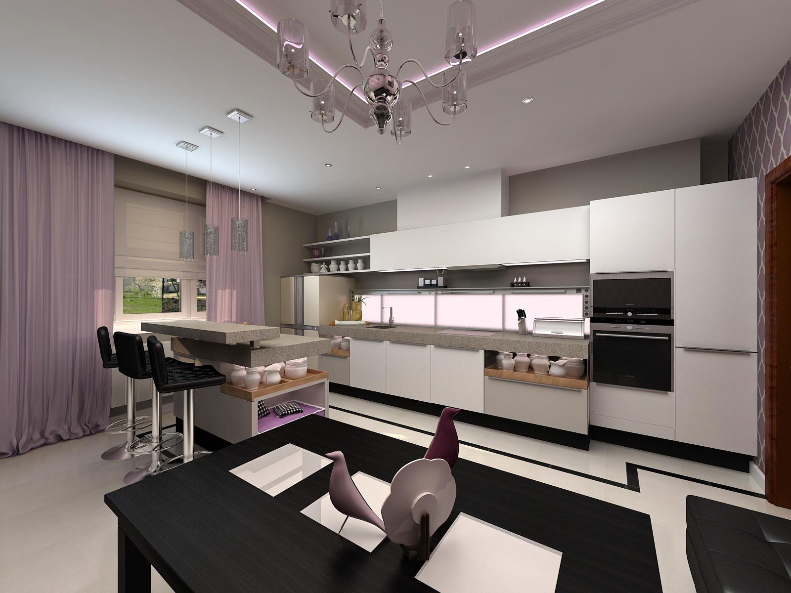 Дизайн кухни-студии – 11 советов по обустройству, 90 фото