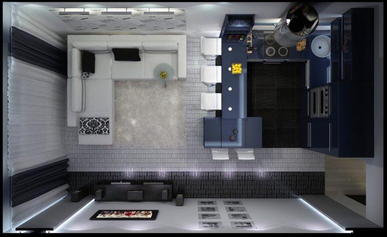 кухня 15 кв м дизайн фото