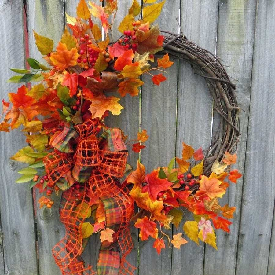 как украсить комнату к осени