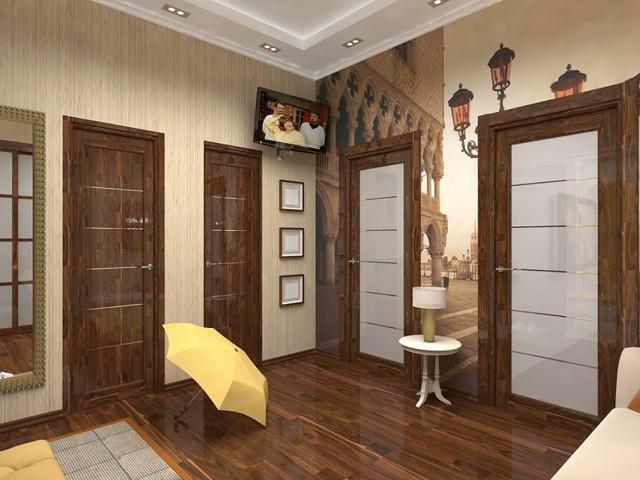 Декор старых входных и межкомнатных дверей своими руками