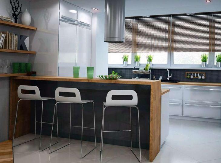 Барные стойки для кухни: 80 фото, дизайн кухни с барной стойкой