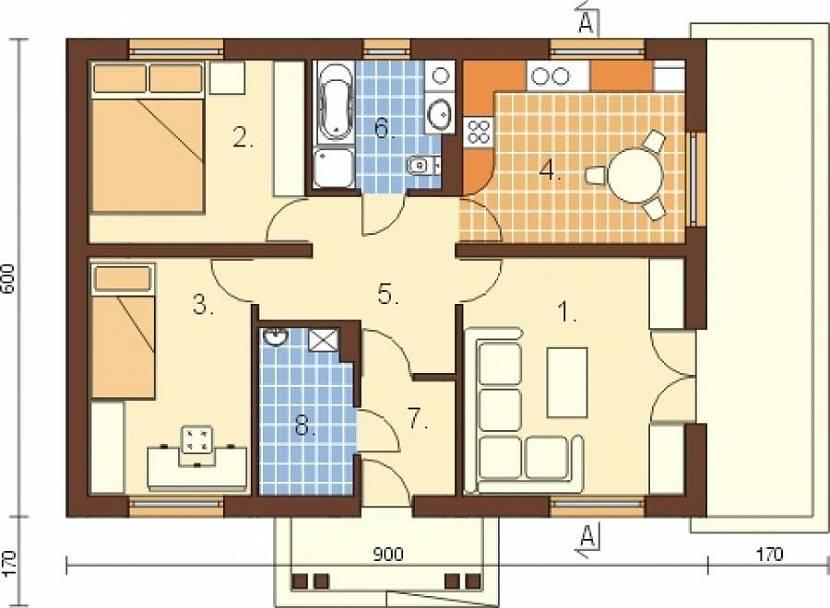 проект дома 6 на 10