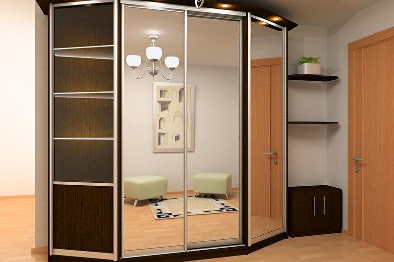 встроенный шкаф в прихожую фото дизайн идеи