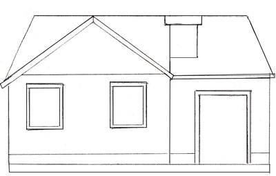 Мастер класс марии беликовой: рисуем домик в деревне. » сайт для детей и родителей