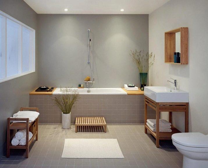 альтернатива плитке в ванной комнате на стены