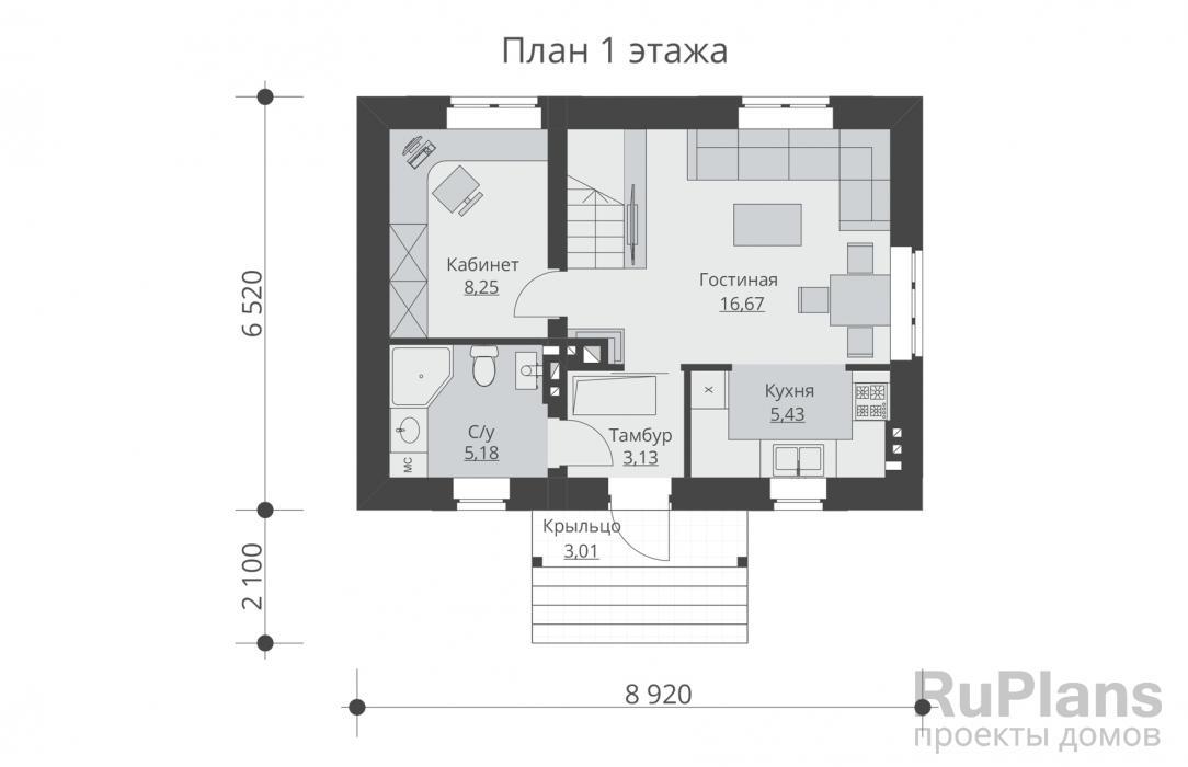 Дом 6х6 – проекты и материалы, варианты планировки