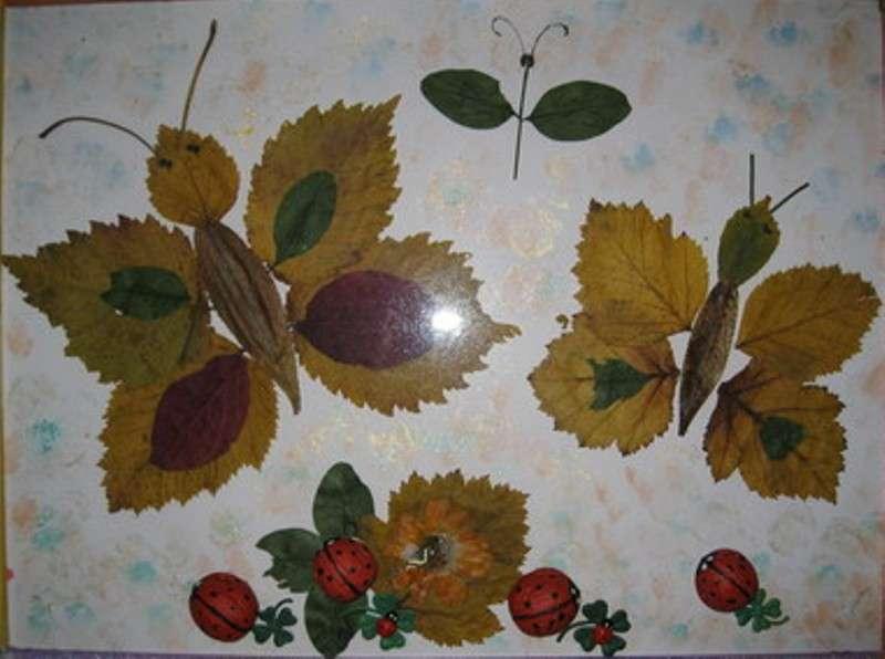 Поделки из листьев на тему осень для детского сада