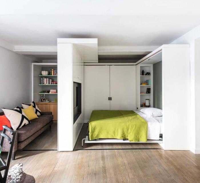 Как разделить комнату на две зоны, если мал метраж?