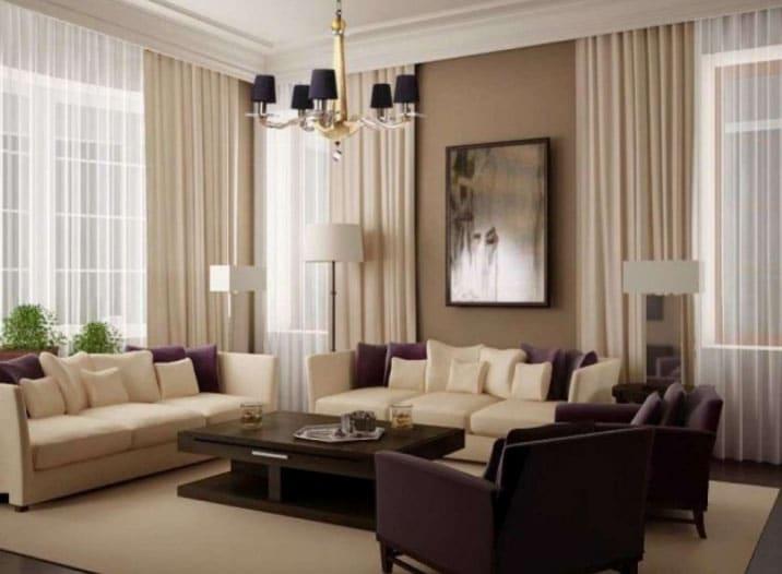 Двойные шторы: 70+ фото в интерьере, избранные идеи оформления окна