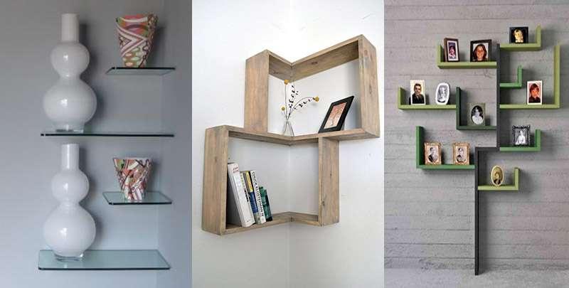 Дизайн полок в интерьере на стену - угловые, книжные, под телевизор, стеклянные, для цветов, с подсветкой, открытые, над диваном, в виде кубиков, расположение и конструкция, как сделать своими руками + фото