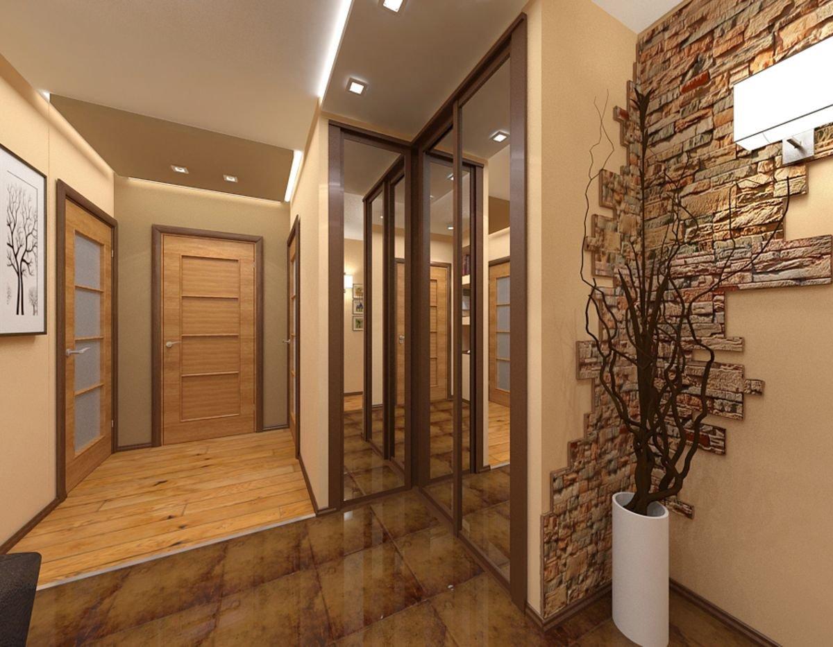 декор стен в прихожей в современном стиле
