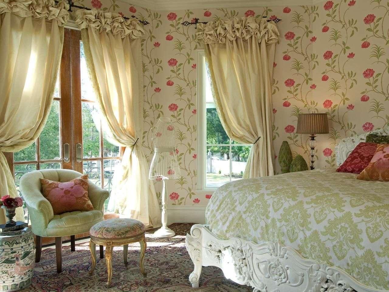 шторы в стиле прованс для спальни