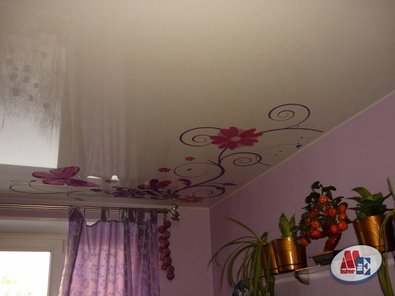 Примеры интерьеров с фотопечатью на натяжных потолках: 50 фото