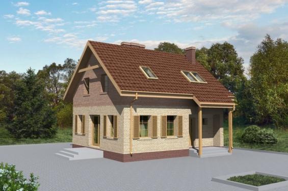 проект дома 7 на 8 двухэтажный
