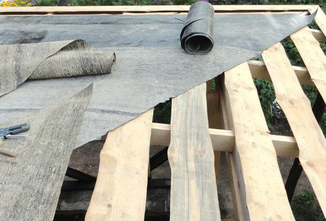 рубероид на крышу