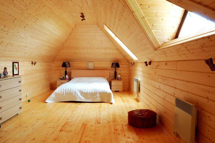 Отделка имитации бруса: 140+ (фото) интерьеров внутри дома