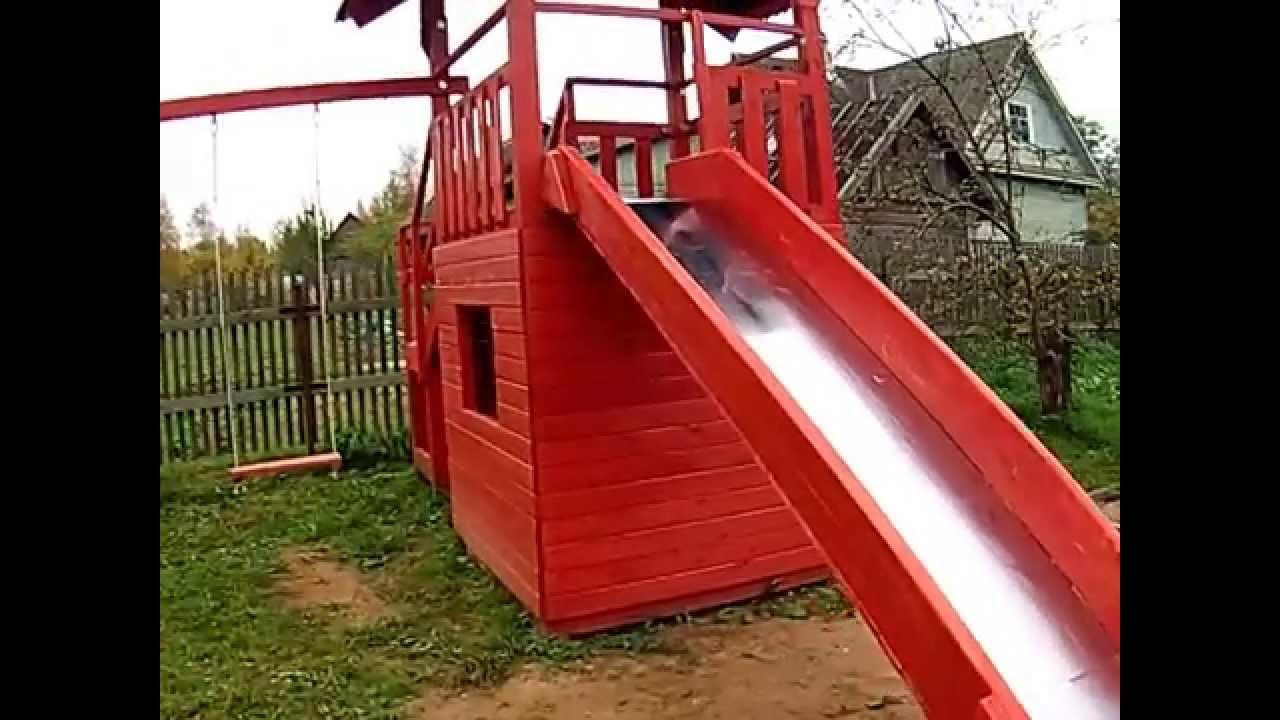 Детская горка (25 фото): горка для дачи с качелями, уличная металлическая конструкция на игровую площадку для детей
