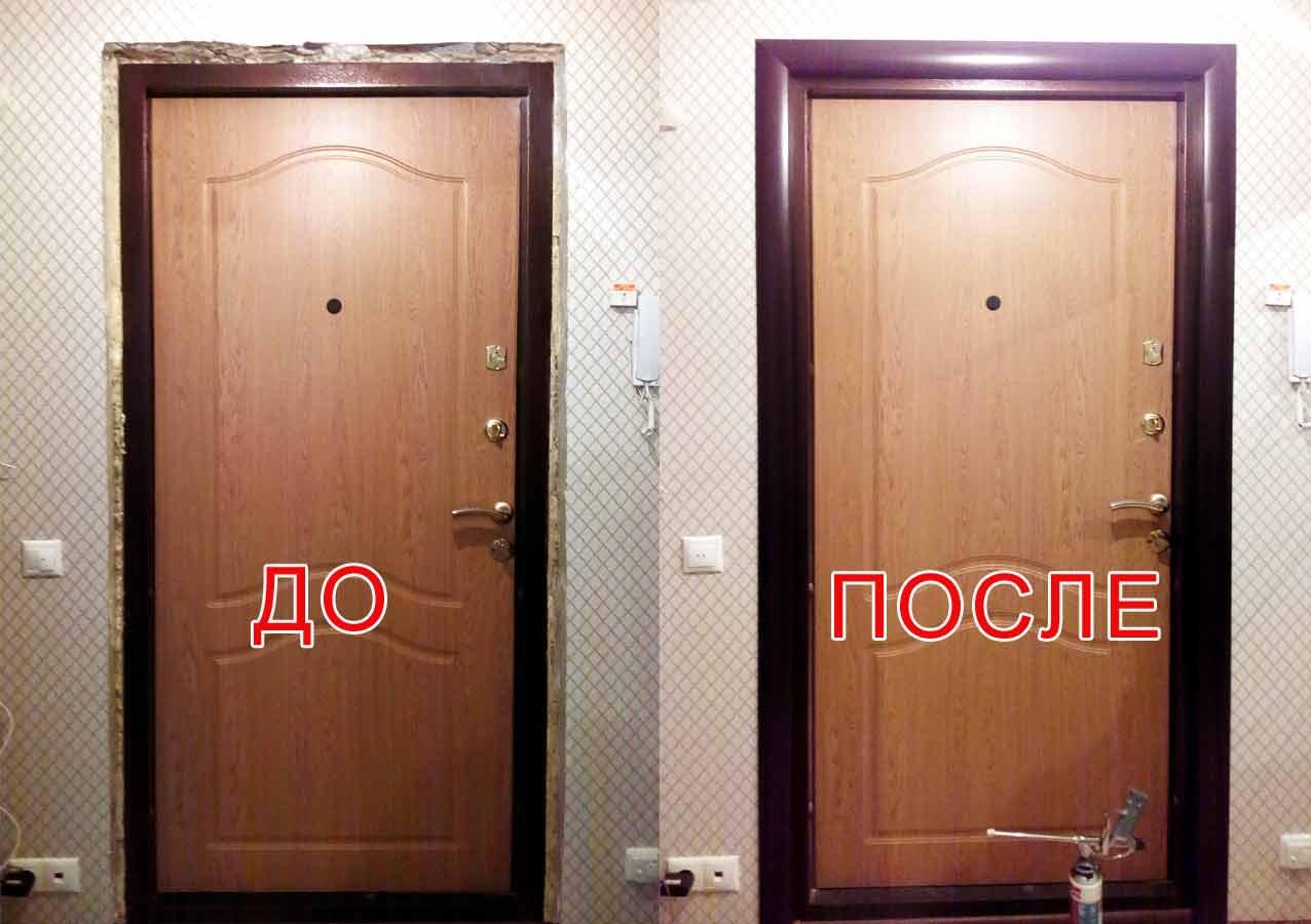 Как сделать откосы входной двери своими руками?