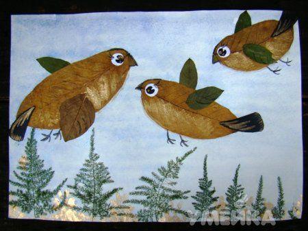Оригинальные идеи осенних поделок из листьев
