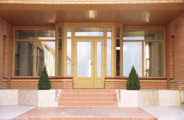 Пластиковые двери входные (72 фото): выбираем уличные модели из пвх в частный или загородный дом, размеры стеклянных наружных изделий